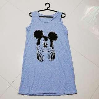 Powder Blue Dress/Duster(Pantulog)