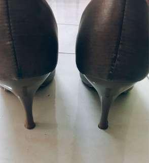 Vinci Brown Satin Shoe