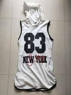Sleeveless Baseball Jersey Dress