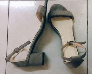 Grey Sandle Heels