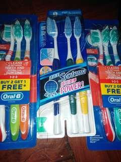 3排牙刷每排3枝