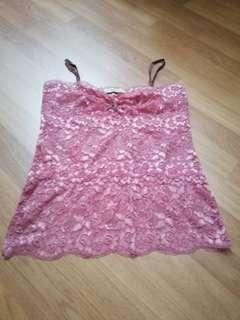 MNG sleeveless lace top