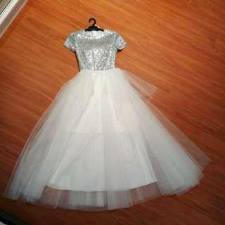 White ballgown brand new with tag