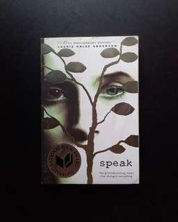 Speak - Laurie Halse Anderson.