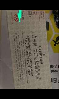[SELLING] Cat2 Blue2 BTS Physical tickets in Singapore!!
