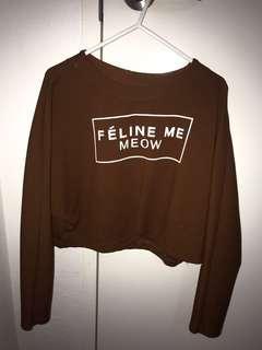 Brown/khaki sweater crop