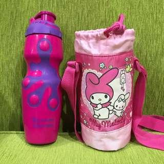Tumbler with cross body My Melody holder