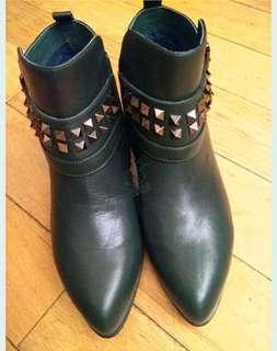 Walker shop real leather 真皮短boot