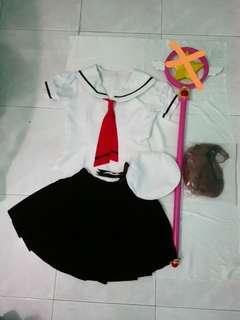 Cardcaptor Sakura Summer Uniform + wig set