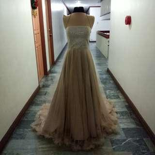Nude long gown for rent