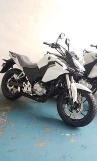Brand new Honda CB190x Fighthawk in white