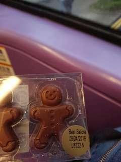 聖誕薑餅人朱古力禮物chocolate gift present figures