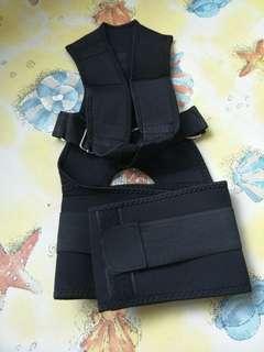 Black back brace
