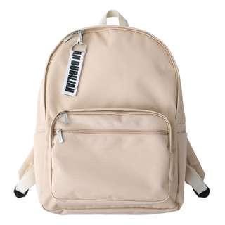 購自韓國 Bubilian beige卡其色 背囊  後背包