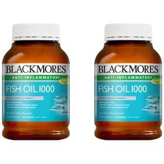 旺角門市🌳(2樽裝)💥BLACKMORES - 深海魚油丸 400粒 FISH OIL 1000mg💥 GNC 超值增量裝 Omega-3 保護血管健康 提高免疫能力 預防高血壓