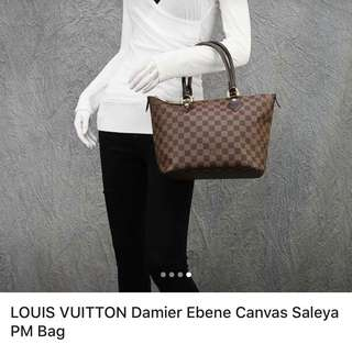 f91ff82bb87d LV Bag - Damien Ebene Canvas Saleya