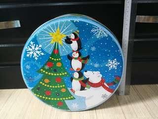 Christmas Large Tin - Blue Snowman