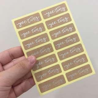 personalised custom name stickers