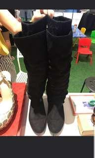 Aldo Velvet Black Boots