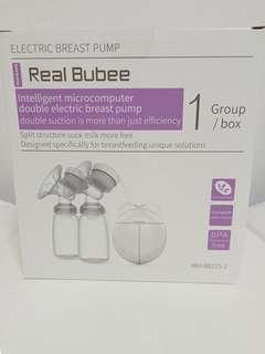 Real Bubee Double USB Electric Breast Pump with Milk Bottles