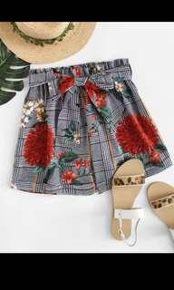 ribbon shorts paper bag shorts