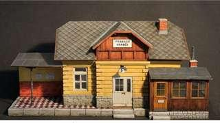Railway station in 1/35 Scale Model for diorama diaplay