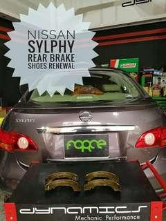 Nissan Sylphy : Rear Brake Shoes replacement.