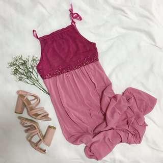 *BNWT* Fashion.LAB (M) Fuschia Blush Pink Square Neck Dress