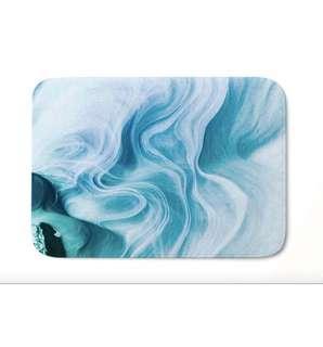 Blue Nordic Style Marble Floormats Carpet Rug Door mats