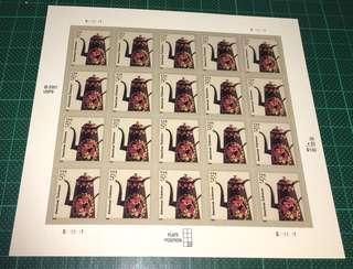 2001 美國 自動黏貼 郵票