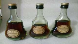 Glass Bottles Hennessy X.O cognac miniature