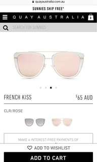 ❤️Quay French Kiss Sunglasses and Trifold Case