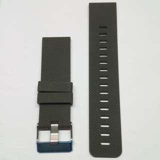 ⌚FREE POSTAGE - 24mm SOFT SILICONE GREEN/BLACK RUBBER WATCH STRAP With Big Tongue Buckle⌚