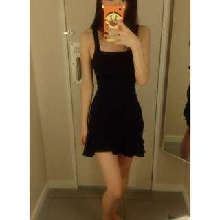 H&m black bodycon mermaid dress