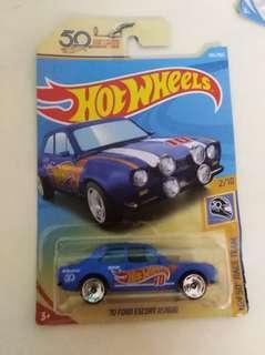HotWheels 70 Gord Escort RS1600 1:64