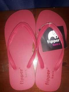 SALE!!! SANDAL FIPPER BASIC WARNA PINK TUA