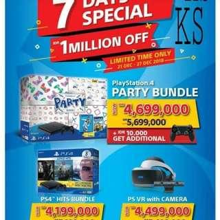 PS4 SLIM 500GB PARTY BUNDLE GARANSI RESMI SONY 2 TAHUN