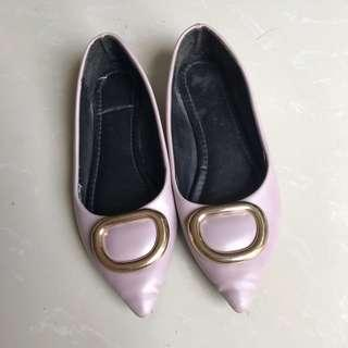 Pastel Purple / Pink Pointed Flatshoes