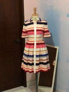 Kate spade colored stripes color block