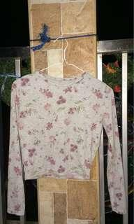Floral Cropped Longsleeves Shirt