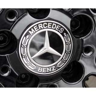 賓士 Benz 輪圈 中心蓋 AMG版 運動樣式 sport 黑色 A B C E GLA CLA GLC 原廠框適用