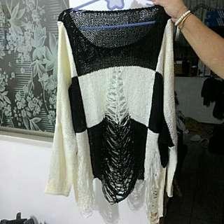 全新黑白造型針織