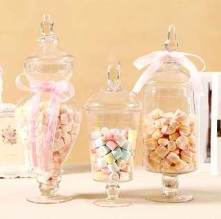 Trio Glass Jars