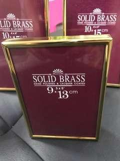 Brass Hand made photo Frames 3 pcs