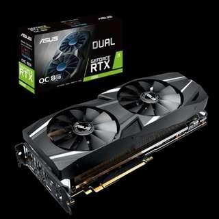 ASUS RTX2080 DUAL FAN OC 8GB DDR6 GRAPHIC CARD