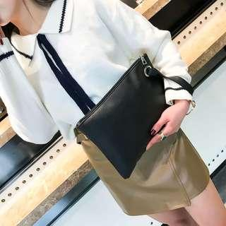 Envelope Zip Clutch