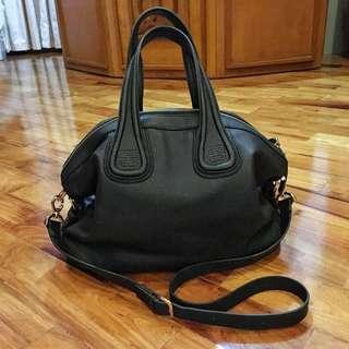 af1ed4de57 Givenchy Nightingale Inspired Grain Leather Black Bag Large With Strap