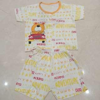 New! Setelan Kaos Baby orange