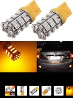 T20 LED turn signal with load resistor COMPLETE set