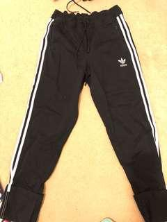 Adidas rolled up pants